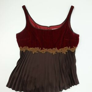 Bandolino Red Brown Sleeveless Blouse Shirt Women's Size 10