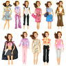 20 Items=5 Clothes 5 Trousers 10 Shoes Outfits Sets For Barbie Doll Random Style
