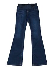 Old Navy Maternity Size 2 Jeans Slim Boot Cut Low Panel Stretch Dark Wash Blue