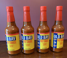 4 Bottles Old Bay Hot Sauce 10 Ounce Limited Edition Bottle New Sealed