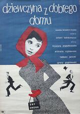 Original Old Vintage Polish Cinema Poster, Dziewczyna z Dobrego Domu 83 x 57.2cm