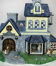 PartyLite Village Olde World #1 Candle Shoppe Shop Tealight Blue Yellow
