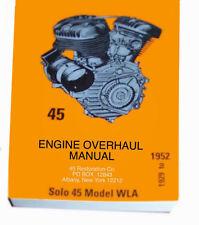 HARLEY DAVIDSON 1945 E-8 Engin Overhaual Manual
