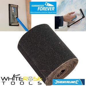 Silverline Mesh Sanding Roll 60 80 100 Grit Sander Sheet Abrasive Woodwork 5m