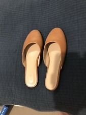 Witchery Leather Slides Flats Shoes Tan Size 37