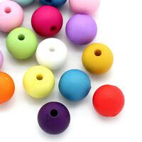 100 Mix Acrylperlen Kugeln Spacer Bunt gemischt Perlen zum Basteln 10mm D.