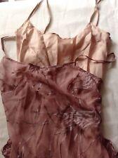Patrizia Pepe Silk Sheer Burnout Pink With Matching Slip Dress Small 40