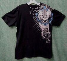 Affliction Georges St Pierre T Shirt Mens size L Black short sleeve graphics