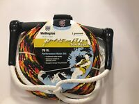 Wellington 75 Ft Performance Waterski Tow Rope (1- Person) Summer Boat Fun