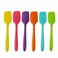 Heat Resistant Non-Stick Silicone Spatula Flexible Rubber Scraper Kitchen Tool@