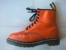 DOC DR MARTENS ORANGE BOOTS MADE IN ENGLAND RARE VINTAGE UNISEX 7UK US: W9 M8