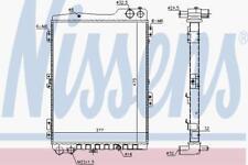 RADIATOR WATER COOLING ENGINE RADIATOR NISSENS NIS 60442