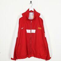 Vintage REEBOK Small Logo Windbreaker Jacket Red | 2XL