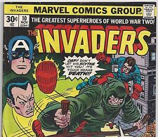The Invaders #10 Captain America Sub-Mariner Human Torch from Nov. 1976 in VG-