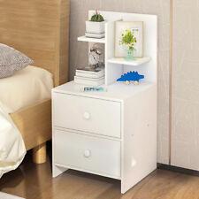 Modern Nightstand Bedside Table W Drawer Shelf Storage Cabinet Side End
