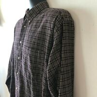 Pendleton Vintage Wool Plaid Flannel Shirt Outdoor Shirt Men's Large L