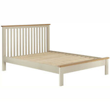 Padstow Cream Painted 5ft Double Bed Frame / Solid Wood Kingsize Bedstead / Oak