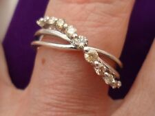 Gorgeous Genuine Natural Fancy Diamond Ring in Sterling Silver 0.27ct