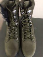 Timberland Field Guide Mens Nubuk Tall Dark Green Boots Size 7.5 New