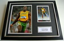 Usain Bolt SIGNED FRAMED Photo Autograph 16x12 display Olympics Athletics & COA