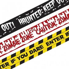 Halloween Fright Warning Tape Banner Party Decoration 9M - 3 Different Designs