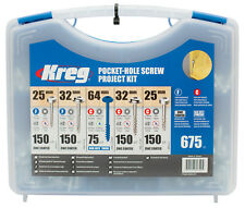 Kreg Pocket Hole Screws Selection Pack 675 Pce - SKO3-INT