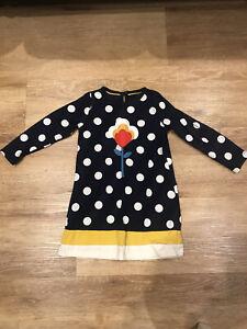 Mini Boden Girls Spotty Flower Dress 3-4 Years