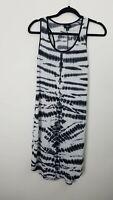 Mossimo Womens Dress Size Medium Tank Tie Dye Black Sleeveless