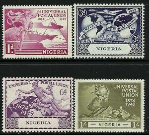 Nigeria 1949 UPU set Mint Lightly Hinged Fresh Gum