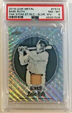 2019 Leaf Metal Babe Ruth Game Used Seat Relic #YS-14 #'d 1/7 PSA 8 NM MT
