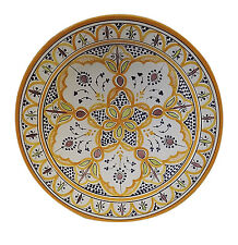 Moroccan Ceramic Plate Handmade Pasta Bowl Serving Wall Hanging 16 inches XXLRG