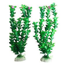 Artículos de decoración de plástico de color principal verde para acuarios