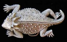 AWESOME LARGE SIZED 3D HORNED TOAD BELT BUCKLE NICE!