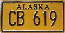 GENUINE Alaska Vanity (Personalised) USA License Licence Number Plate Tag CB 619