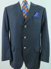 Burberry Prorsum Wool Metal Buttons Blue Blazer Jacket Sport Coat 42 R EUC Spain