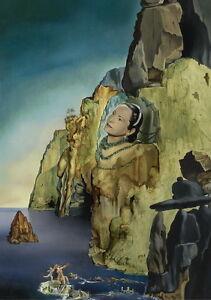 Salvador Dali Princess Arthchild Giclee Canvas Print Paintings Poster Reproducti