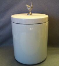 Boston Warehouse Trading Corp Canister Jar with Pewer Rooster! Great Piece! 10""