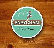 Babycham retro 'Beermat' - round coaster (pear cider)