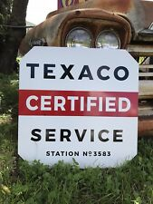 Antique Vintage Old Style Texaco Certified Service Station Sign