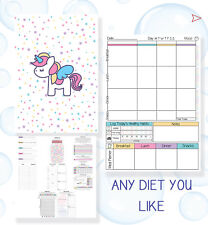 FOOD DIARY, WEIGHT LOSS, DIET, PLANNER, TRACKER, SLIMMING, EXTRA, EASY, ENJOY24