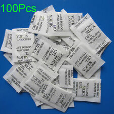 100PCS Non-Toxic Silica Gel Packets Moistureproof Moisture Absorber Desiccant US