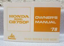 HONDA - 1978 - CB750F - Owner's Manual - Look - NEW LISTING!