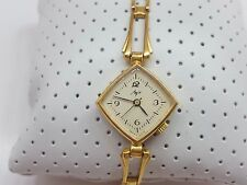LUCH WOMEN'S  WRIST WATCH  BRACELET SSSR 1970s Cal.1809 WOMEN'S GOLD PLATED