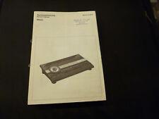 Original Service Manual Schneider Miami