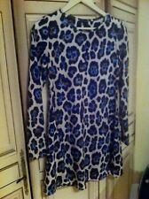 Robe river island motif print léopard bleu taille 34