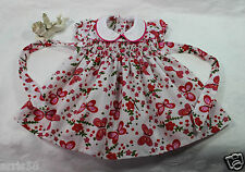 ROBE A SMOCKS IDEAL POUPEE ANCIENNE 55/58CM RAYNAL BELLA SNF  SMOCKED DOLL DRESS