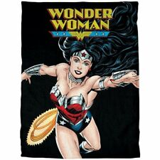 Licensed DC Comics Wonder Woman Princess Soft Fleece Throw Blanket 50x60 Inches