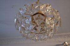 Deckenlampe, Kinkeldey  Glas Lampe, Kristall Leuchte  70er Jahre