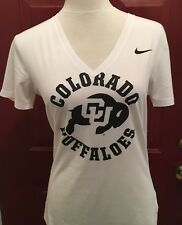 Colorado Buffaloes Nike Dri-fit Ladies V-neck Performance Top Size Small