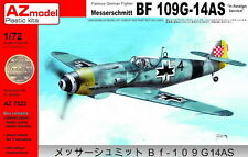 AZ Models 1/72 Messerschmitt Bf 109G-14AS Croacia, Italia, Raf # 7522